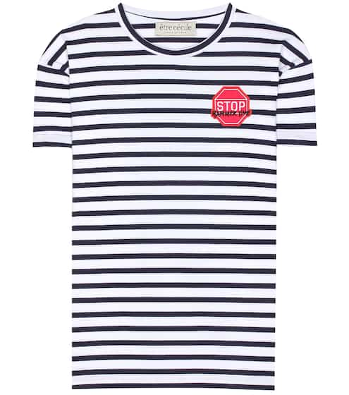 Être Cécile Striped cotton T-shirt