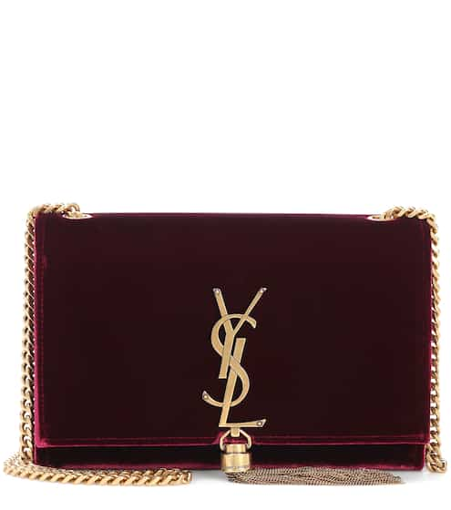 Saint Laurent Schultertasche Kate Small aus Samt