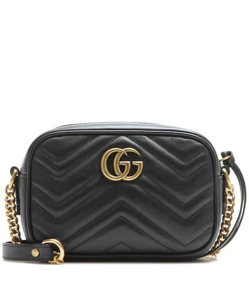 5b2efccee170 Gucci Gg Marmont Mini Matelasse Leather Crossbody Bag from mytheresa ...