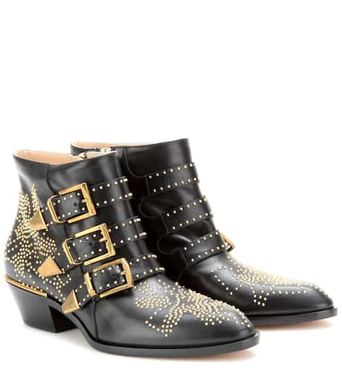 Susanna studded leather ankle boots | Chloé