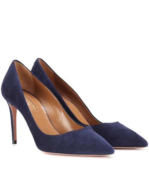 Aquazzura Pumps Simply Irresistible 85 aus Veloursleder