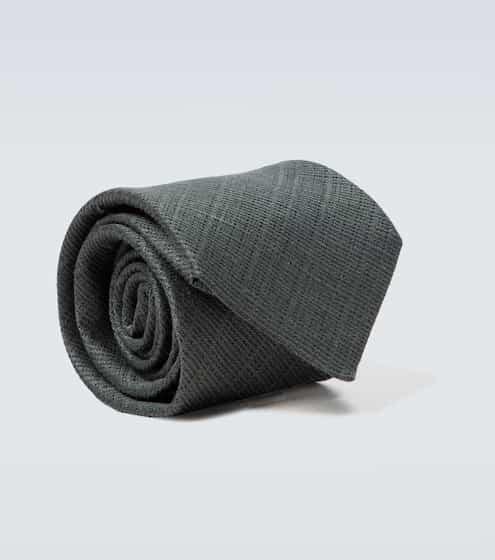 톰 포드 넥타이 Tom Ford Linen and silk jacquard tie