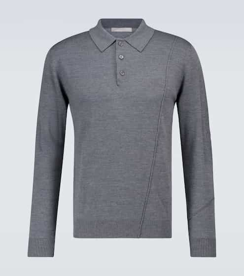 A-COLD-WALL Knitted merino wool polo sweater