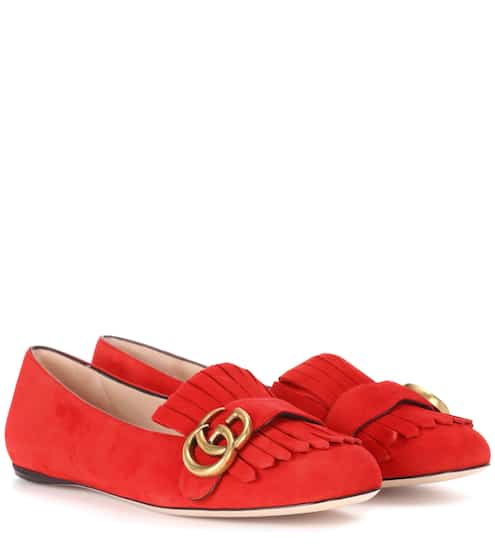 Gucci Loafers aus Veloursleder