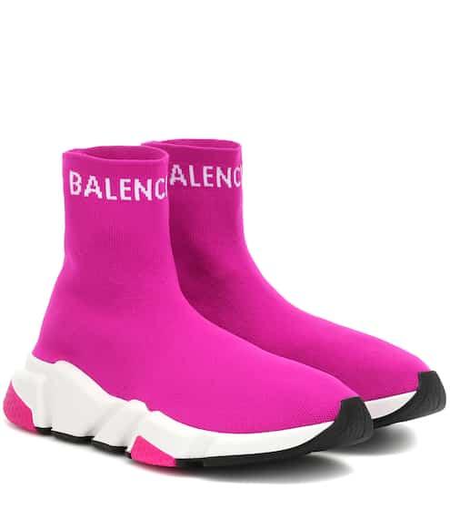 발렌시아가 스피드러너 여성용 - 푸시아 핑크 Balenciaga Speed sneakers