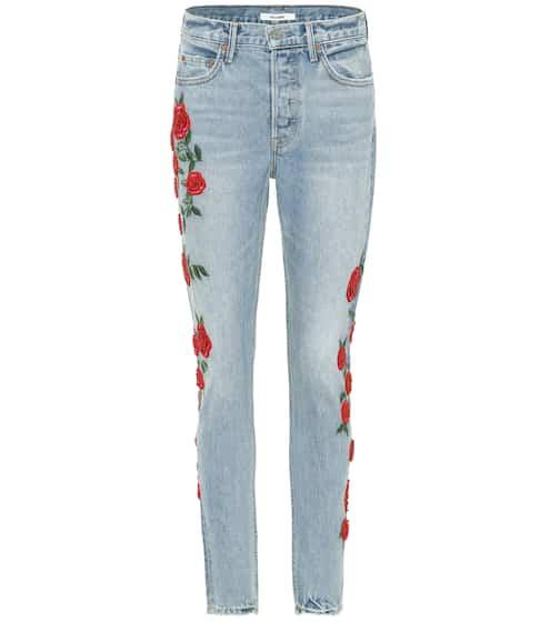 Grlfrnd High-Rise Skinny Jeans Karolina mit Stickerei