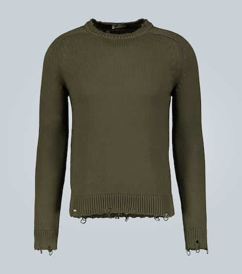 생 로랑 Saint Laurent Destroyed cotton knit sweater