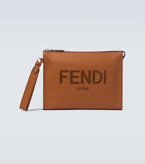 펜디 Fendi Leather pouch