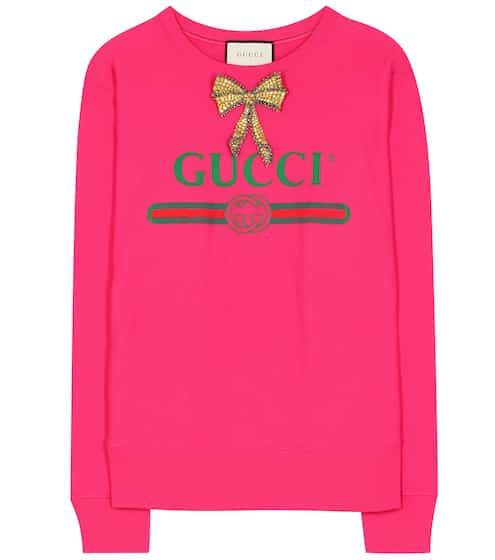 Gucci Embellished cotton-jersey sweatshirt This week's top Sales