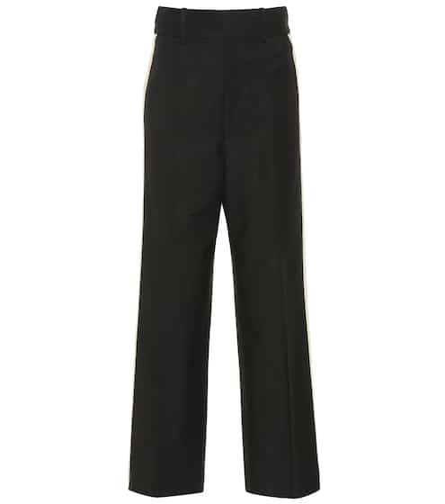 High-waisted wide-leg pants by Helmut Lang, available on mytheresa.com for EUR294 Kourtney Kardashian Pants SIMILAR PRODUCT