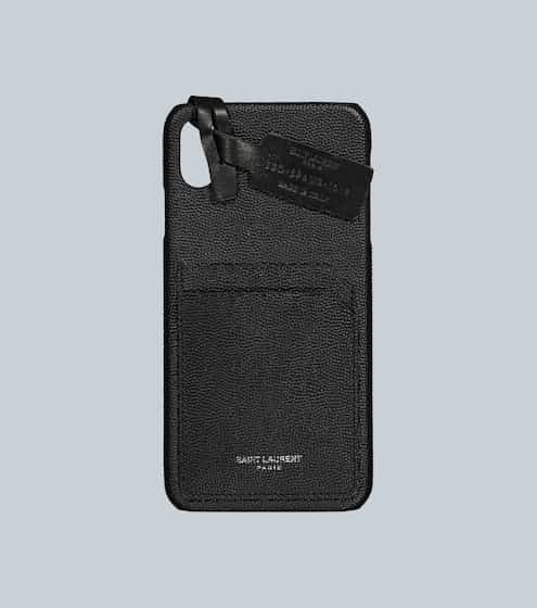 생 로랑 Saint Laurent Leather iPhone XS Max case