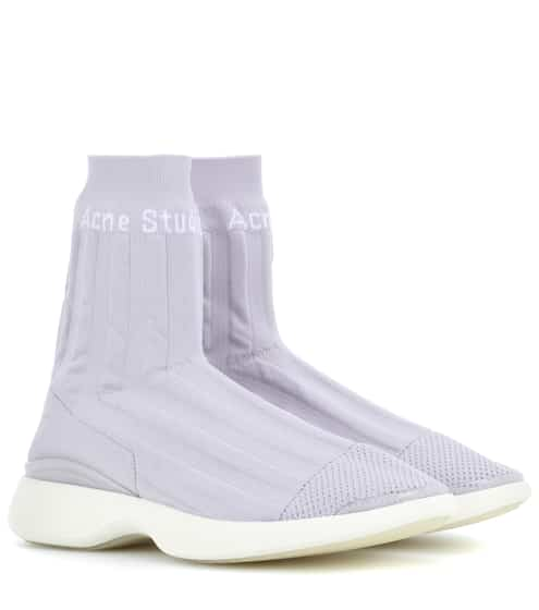 아크네 스튜디오 바틸다 삭스 스니커즈 라일락 Acne Studios Batilda stretch mesh sneakers, Lilac/White