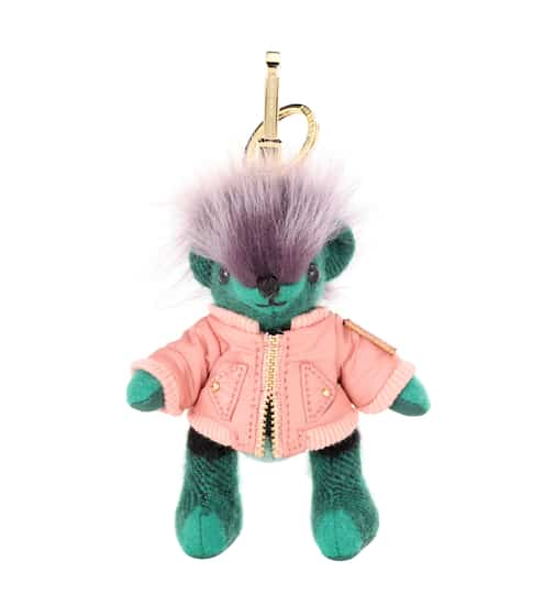Burberry Thomas Bear cashmere and leather charm