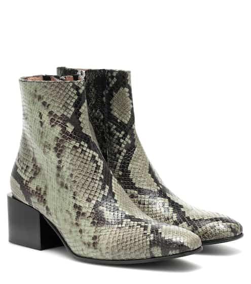 아크네 스튜디오 Acne Studios Embossed leather ankle boots