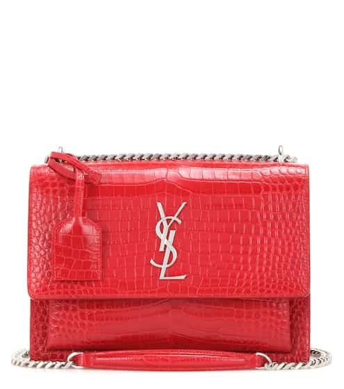 yves saint laurent monogramme sac universite leather shoulder bag