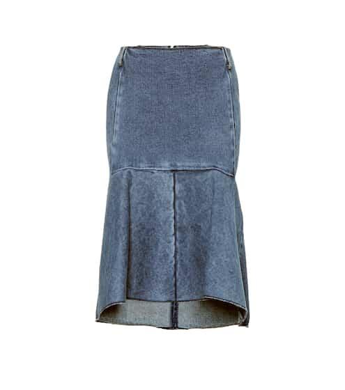 발렌시아가 Balenciaga High-rise denim godet skirt