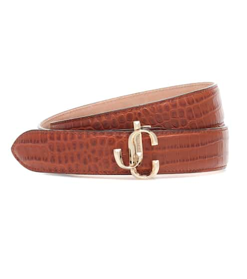 지미 추 벨트 Jimmy Choo Felisa croc-effect leather belt