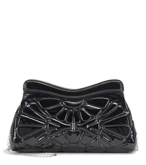 8bb1200107db Miu Miu Patent Leather Shoulder Bag from mytheresa - Styhunt