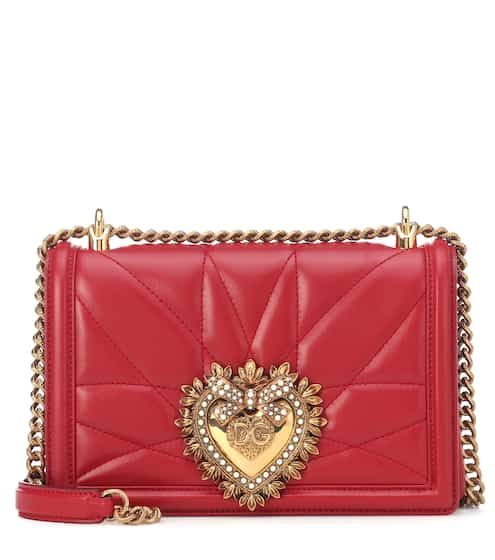5017b287230 Medium Devotion leather shoulder bag | Dolce & Gabbana. Dolce & Gabbana