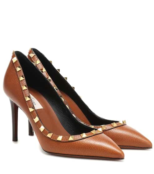 88f28c614870 Valentino Garavani Rockstud leather pumps