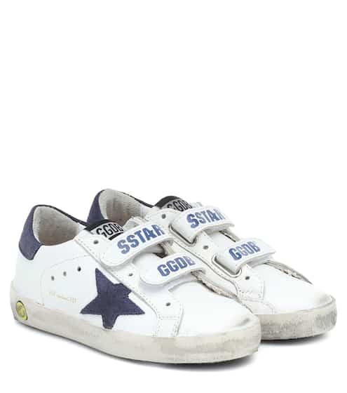 골든구스 Golden Goose Kids Old School leather sneakers