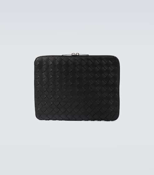 보테가 베네타 Bottega Veneta Intrecciato leather document case