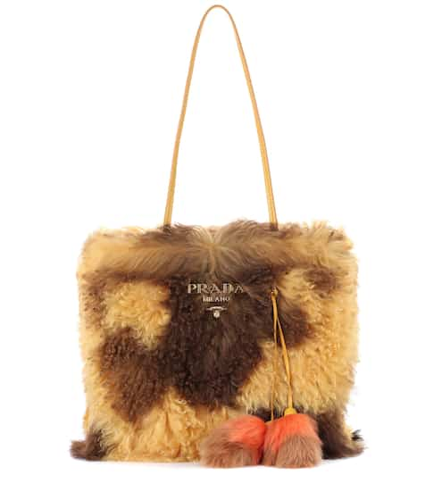Prada Shopper aus Shearling