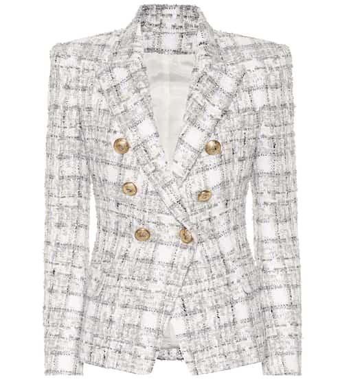 41a7e339 Exclusive to Mytheresa – Double-breasted tweed blazer | Balmain