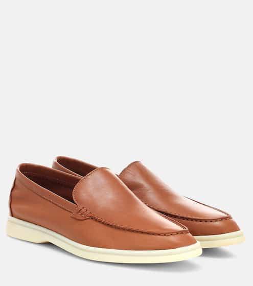 로로피아나 로퍼 Loro Piana Summer Walk leather loafers