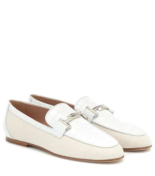 0650672cde3 Double T canvas and leather loafers