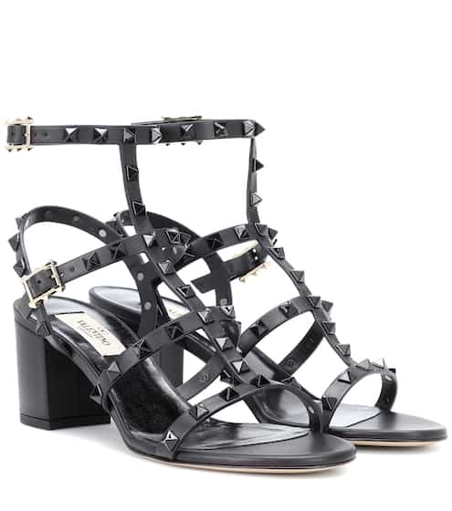 6ab4183b18e84 Valentino Garavani Rockstud leather sandals