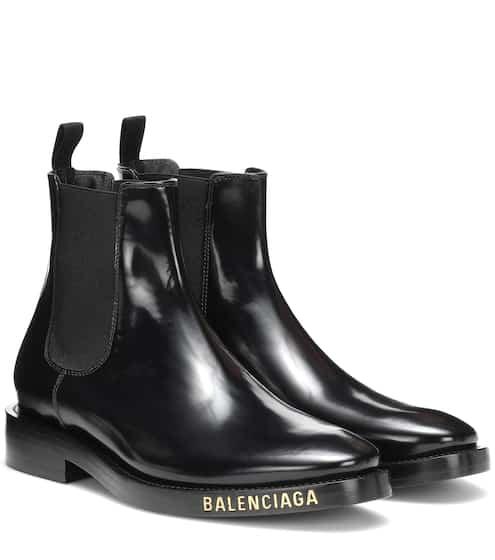 발렌시아가 Balenciaga Leather ankle boots
