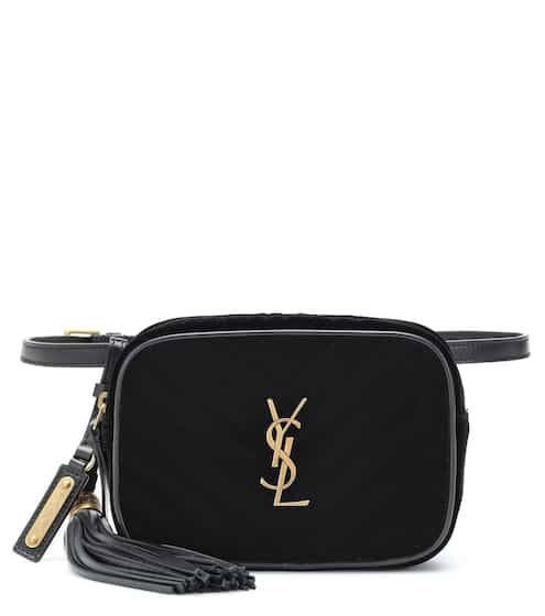 생 로랑 Saint Laurent Lou quilted velvet belt bag