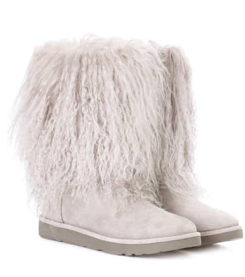 Ugg Australia Ankle Boots Lida aus Veloursleder und Shearling