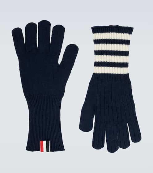 톰 브라운 캐시미어 장갑 - 네이비 Thom Browne Cashmere gloves
