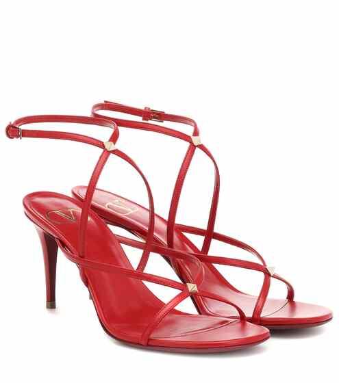 9651ac9faa82 Valentino Garavani Rockstud leather sandals