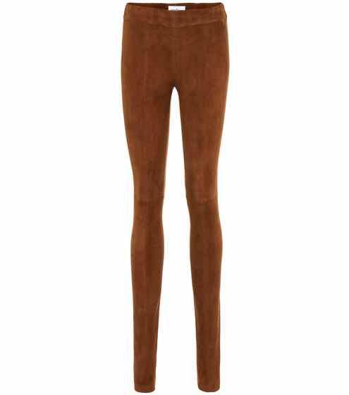 71dac44f7e Pantalones skinny de gamuza