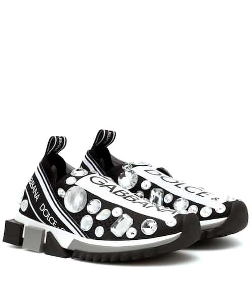 a3e0d36fc398 Dolce   Gabbana Sorrento Embellished Sneakers
