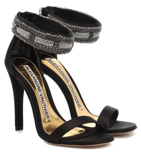 acfe0ea693924 Nina embellished satin sandals | Alexandre Vauthier