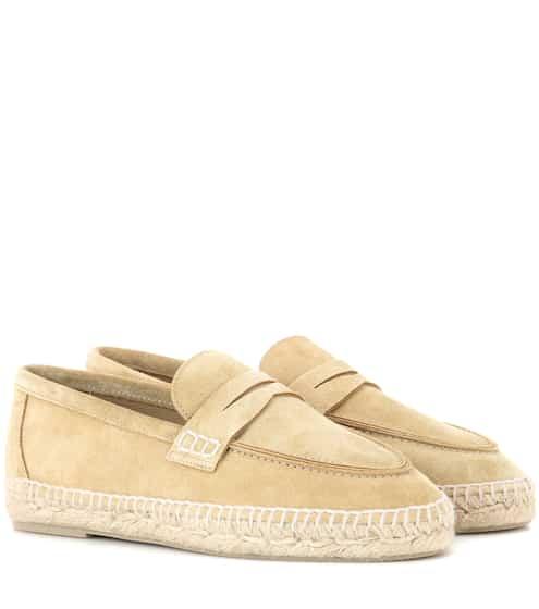 Loewe Loafers aus Veloursleder