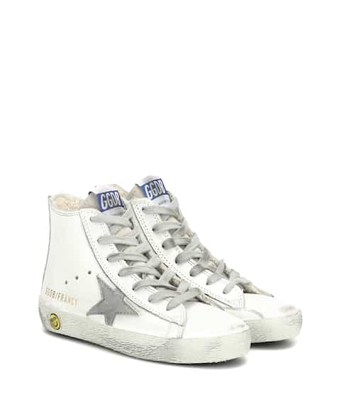 골든구스 Golden Goose Kids Francy high-top leather sneakers