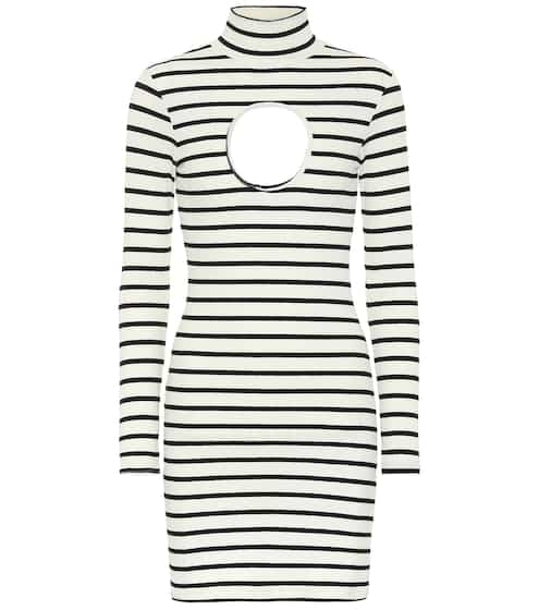 f801ae3964d Striped stretch-jersey minidress