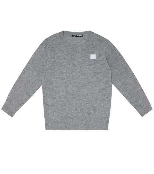 아크네 스튜디오 보이즈 미니 페이스 스웨터 Acne Studios Mini Face wool sweater