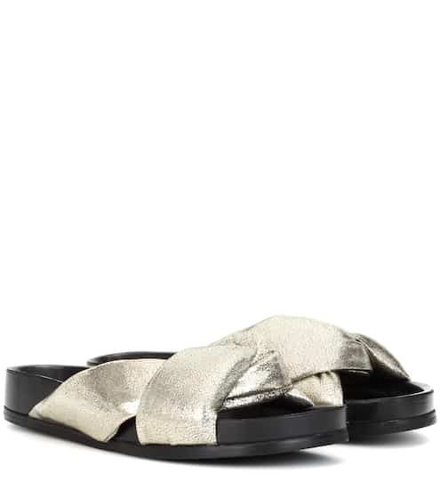 Chloé Leather slip-on sandals