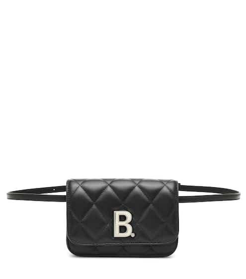 발렌시아가 B로고 퀼팅 벨트백 - 블랙 Balenciaga B quilted leather belt bag