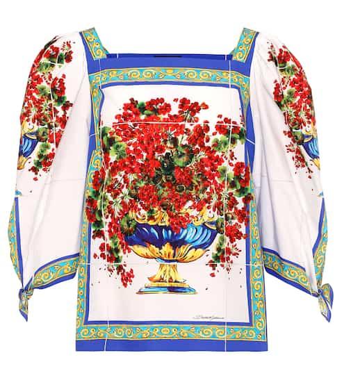 Dolce & Gabbana Oberteil aus Baumwolle mit Print