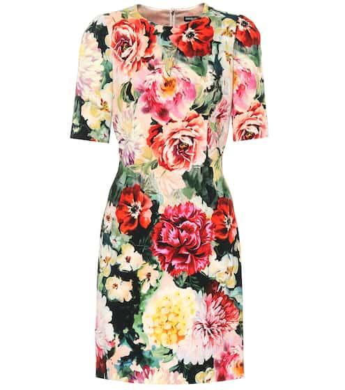81b064160188 Floral printed crêpe minidress | Dolce & Gabbana