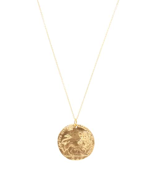 알리기에리 목걸이 (24K 도금, 핸드메이드, 메이드 인 잉글랜드) Alighieri Il Leone 24kt gold-plated necklace