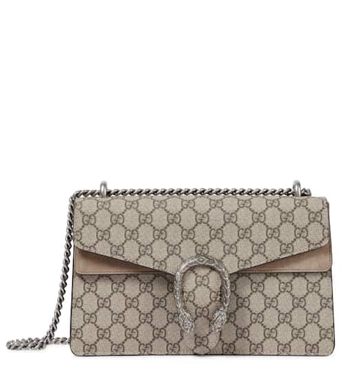 f5850745e2fac Gucci Dionysus Gg Supreme Small Coated Canvas And Suede Shoulder Bag ...
