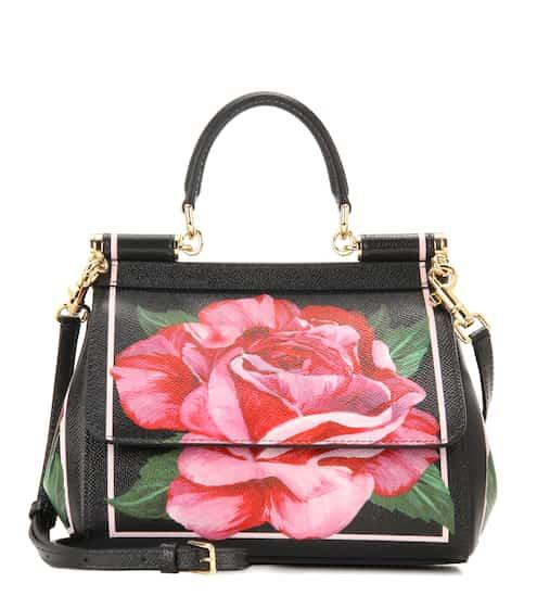 Dolce & Gabbana Tasche Miss Sicily Small aus bedrucktem Leder